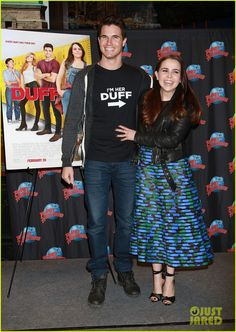 Mae Whitman and Robbie Amell