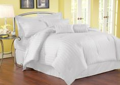 11Pcs Queen Stripe 500TC Cotton Bed in a Bag Set White by KingLinen, http://www.amazon.com/dp/B006RQ9GV0/ref=cm_sw_r_pi_dp_1rg9rb1YCXW8E