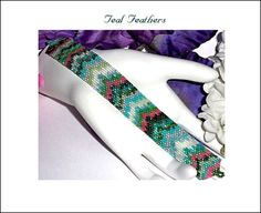Teal Feathers Pattern by SuJen on Etsy, $6.00