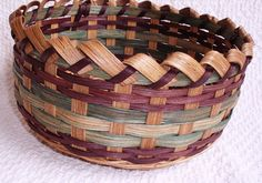 Old Salem Bread Basket Handwoven in Brown and by basketsbyrose, $26.00