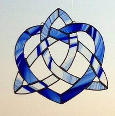 Celtic Knot Heart Triquetra in Stained Glass by Sweveneers on Etsy,+$40.00