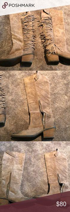 6e5ee4833a45a Tall Carlos Santana boots Talk Carlos Santana boots with fringe Carlos  Santana Shoes Heeled Boots