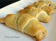 Chocolate and Peanut butter filled crescent rolls...