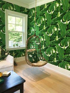 Bathroom wallpaper for the  basement's pool bathroom???
