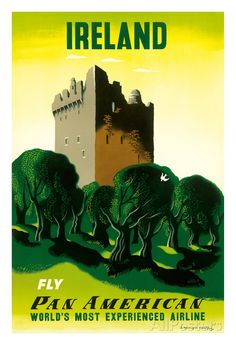 Ireland - Irish Castle - Pan American Airlines (PAA) Giclee Print at AllPosters.com