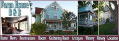 Fredericksburg Iowa Bed and Breakfast Farm House B & B lodging accommodations