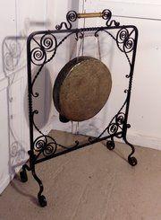 A Large Victorian Benares Brass gong