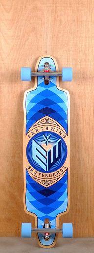 """Earthwing 38"""" Supermodel Blue Longboard"""