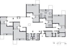 Overall plan Montessori School Delft. Social Housing Architecture, University Architecture, Architecture Board, Education Architecture, Concept Architecture, School Architecture, Residential Architecture, Architecture Design, Delft
