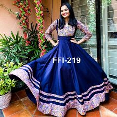 Beautiful Block printed fully flarred gown style dress is perfect indian traditional look when you The post Arhams Presents appeared first on Arhams.