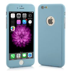 Ultra-thin Hybrid 360 Degree Full Body Coverage Protective Case Cover with Tempered Glass Screen Protector for Apple iPhone 6 6S Plus SE 5S