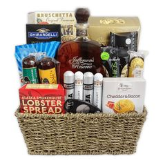 The Bourbon and Cigar Gift Basket is available for same day delivery in Las Vegas, NV. Featuring Jefferson Reserve Bourbon, Cigars and variety of gourmet salty & sweet snacks. Create your own Custom Cigar Gift Basket by calling 702-214-1221. Liquor Gift Baskets, Themed Gift Baskets, Birthday Gift Baskets, Jack Daniels Gifts, Bourbon Gifts, Bachelor Gifts, Fathers Day Gift Basket, Cigar Gifts, Sweet And Salty