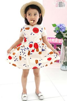 kids dress. vestido estampado infantil.