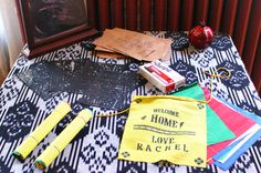 Unique baby shower craft idea: Decorate Tibetan prayer flags with messages to baby.