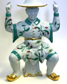 Figurines Famille Verte Small Man Epergne from Mottahedeh in Charleston, SC from Vieuxtemps