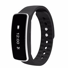 Smart Wrist Band Sleep Sports Fitness Activity Tracker Pedometer Wrist Watch bracelet for iOS and Android -Black >>> Be sure to check out this awesome product.