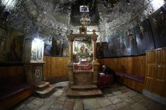 Inside the tomb of Mary in the Church of the Sepulchre of Mary -Kidron Valley, Jerusalem Israel