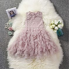Kids Girls' Sweet Holiday Solid Colored Lace Sleeveless Knee-length Polyester Dress White Source by Wedding Dresses For Kids, Cheap Party Dresses, Fall Dresses, Cute Dresses, Girls Dresses Online, Party Dresses Online, Princess Fancy Dress, Girls Blue Dress, Sweet Dress