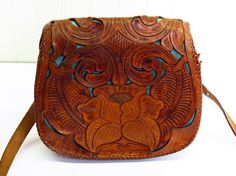 1950s Tooled Leather Boho Saddle Purse by KentonCollectibles, $50.00