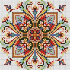 This Pin was discovered by Sta Cross Stitch Borders, Cross Stitch Rose, Cross Stitch Samplers, Cross Stitch Flowers, Cross Stitch Charts, Cross Stitch Designs, Cross Stitching, Cross Stitch Patterns, Folk Embroidery