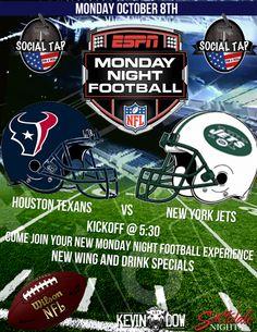 SOCIAL TAP - MONDAY Eat, Drink, Football – 10.08.2012