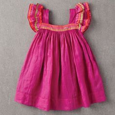 Chloe Dress, Spring Crocus by Nellystella