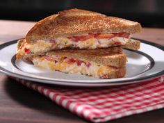Lighter and Leaner Pimento Cheese Sandwiches #myplate #grain #dairy