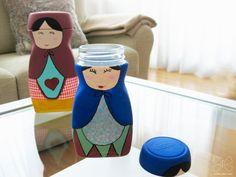diy recycled nescafe jar botes de nescafe reciclados