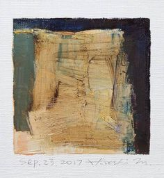 Sep. 23 2017 Original Abstract Oil Painting 9x9 painting