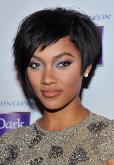Check the latest short black hair styles. Afro American hairstyles for women. Short black hair styles 2011 for prom. Buzz cuts for black women. Short Black Haircuts, Short Hair With Bangs, Cute Hairstyles For Short Hair, Short Hair Cuts For Women, Weave Hairstyles, Curly Hair Styles, Natural Hair Styles, Shaggy Haircuts, Prom Hairstyles