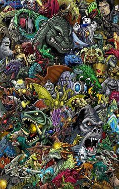 Godzilla Collage - Godzilla 2014 Gallery