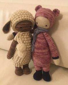 LUPO the lamb & BINA the bear made by Lydia / crochet patterns by lalylala