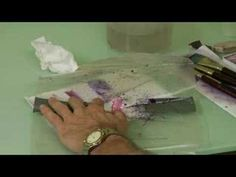 Watercolor Toothbrush -SPLATTER Painting by Cody Davis   :)     Splatter painting.