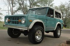 Or this'll do, too. Restored 1973 Bronco.