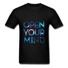 #Mind #Space #Tshirt Open Your Mind T-Shirt. Classic-cut standard weight t-shirt for men, 100% pre-shrunk cotton, Brand: Gildan