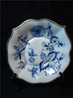Blue Onion Pattern Meissen Plates