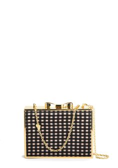 Betsey Johnson Bling Outside the Box Clutch. Ever the unpredictable trendsetter, you add a dash of edgy elegance to your evening ensemble with this box clutch by Betsey Johnson! #black #modcloth
