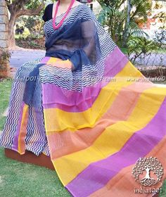 Elegant Kota Cotton Saree with Hand block printing