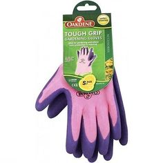 High Quality Heavy Duty Gardening Gloves OAKDENE Tough Grip Small Pink Size 7 in…