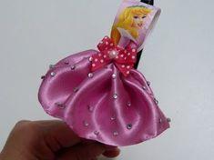 Diy Decora diadema con la Princesa Aurora, elaborada de liston y tela , Video 598 - YouTube