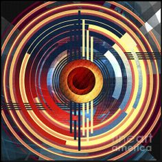 Concentricity Print by ©ifourdezign #DigitalArt  #Symmetry #Reflections #Abstract #AbstractArt #Geometry #DigitalArt #Patterns #Circular #Circles #FineArtAmerica (Please retain ALL credit -TY)