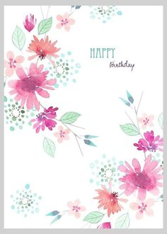 Floral Watercolour Loose Style 2