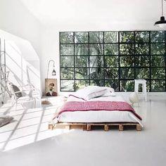 we love a good pallet platform bed. Photo by chairishco. via parachutehome.jpg