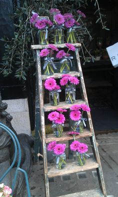 Simple but beautiful way to display flowers. Seen at the flower stall outside Liberty.