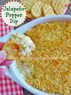 Jalapeño Popper Dip - perfect for your Super Bowl Party! | TheCountryCook.net