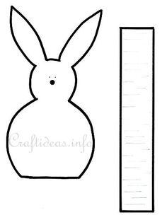 Craft Template - Easter Bunny Egg Holder