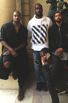 Black Fashion Makers: Kanye West, Virgil Abloh, Jerry Lorenzo and Travis Scott Travis Scott Fashion, Air Jordan, Fat Nick, Kanye West Style, Denzel Curry, Fashion Maker, Hip Hop, Hood By Air, High Fashion