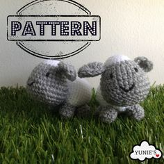 Crochet Amigurumi Pattern : Amigurumi Sheep keychain by Yunies on Etsy