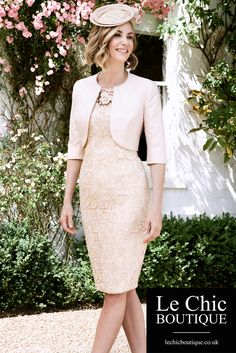 Gorgeous, blush mother of the bride outfit by John Charles. Click to view more.
