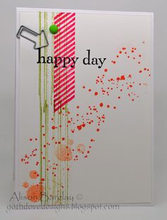 Gothdove Designs - Alison Barclay Stampin' Up! ® Australia : Stampin' Up! Australia - Happy Day + Gorgeous Grunge Birthday Card